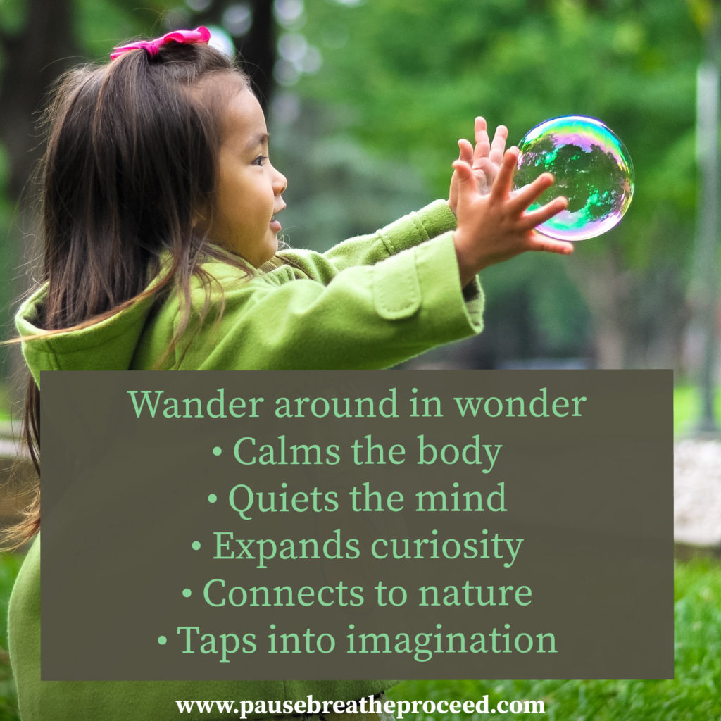 Wonder Wander towards creative thinking