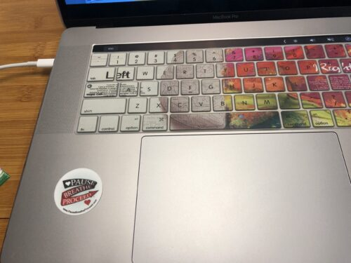 Small Sticker on laptop